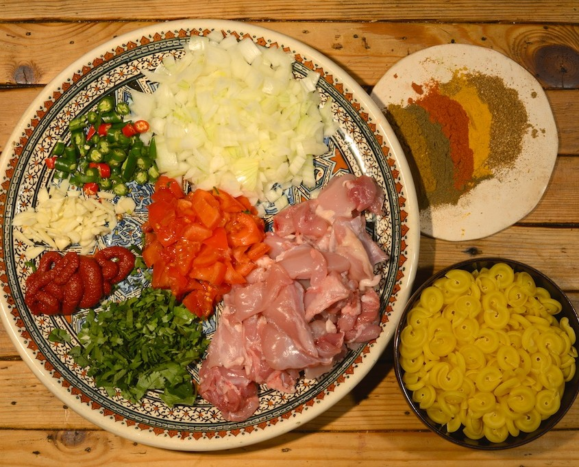 Ubari Chicken Raw Ingredients